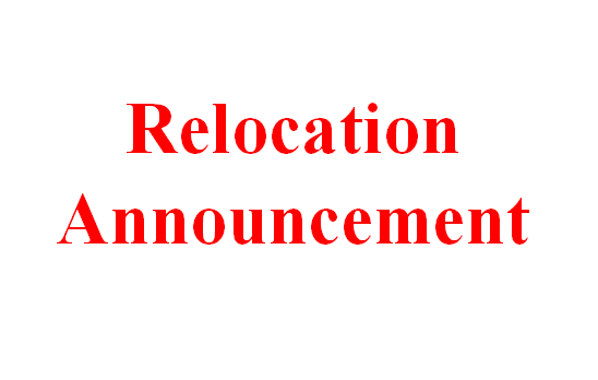 Relocation Announcement